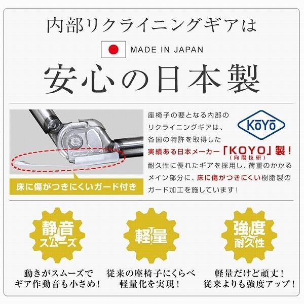 座椅子 リクライニング 低反発 ハイバック リラックス構造 メッシュ 全5色 日本製ギア コンパクト 高座椅子 チェア 1人掛け おしゃれ 腰痛 テレワーク 座いす weimall 11