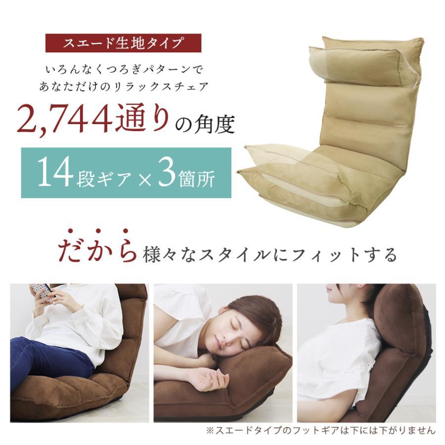座椅子 リクライニング 低反発 ハイバック リラックス構造 メッシュ 全5色 日本製ギア コンパクト 高座椅子 チェア 1人掛け おしゃれ 腰痛 テレワーク 座いす weimall 04