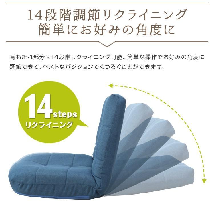 【期間限定セール】 座椅子 リクライニング 極厚 ポケットコイル 日本製ギア 全2色 チェア コンパクト 1人掛け あぐら座椅子 おしゃれ 座いす 座イス WEIMALL|weimall|06