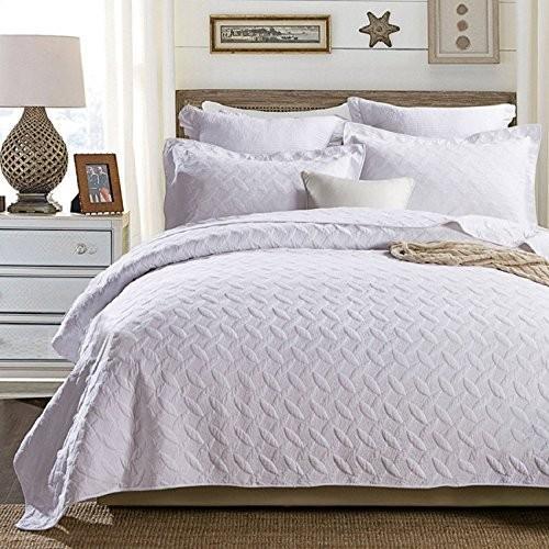 gardenlightess ベッドカバー ベッドスプレッド 3点セット おしゃれ ダブル ダブル 綿100% 230×250cm