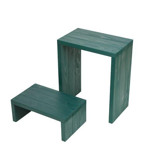 Welcome wood ウッドステージ WSW452LH-GG 2段ワイドタイプ  色はガーデングリーン 個別に移動できるのでとっても便利。