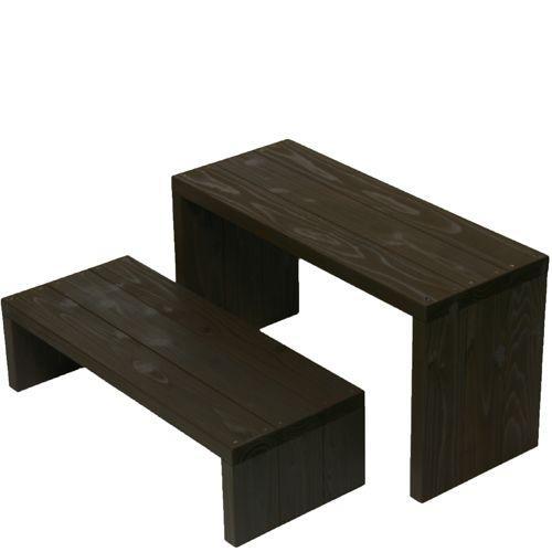 Welcome wood ウッドステージ WSW662LM-UB 2段ワイドタイプ  色はアンバーブラウン  (フラワースタンド プランタースタンド 飾り台 花台)