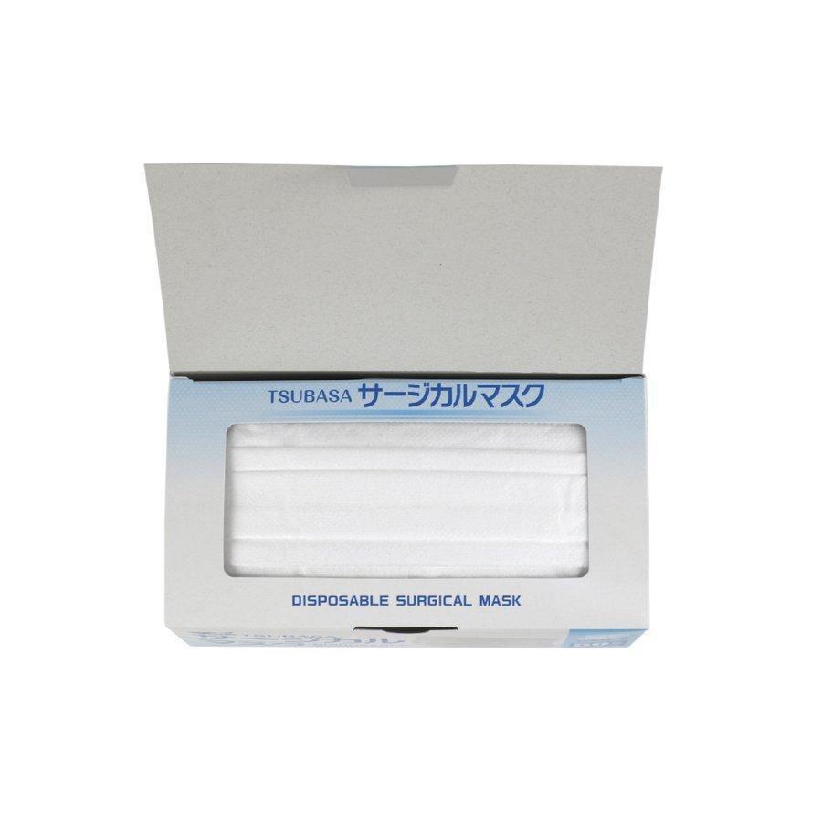 マスク 不織布 日本製 3層式 国産 サージカル マスク ホワイト フリーサイズ 100枚入 2個セット 三層構造 PFE99%カット 医療用 つばさ tsubasa wellhealth-drugstore 04