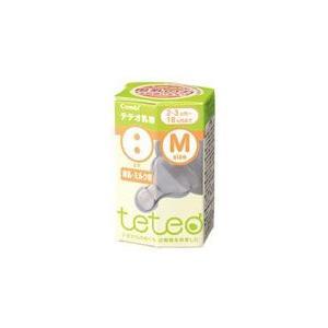 コンビ teteo テテオ乳首 2穴 Mサイズ 母乳・ミルク用 2・3ヶ月〜18ヶ月まで|wellness-web