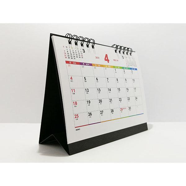 4月始まり カレンダー 卓上 リングタイプ 六曜 1ヶ月 A6 新学期 新祝日対応 授業計画 年度計画 PP袋入れ 個包装 1個 wellonshop 03