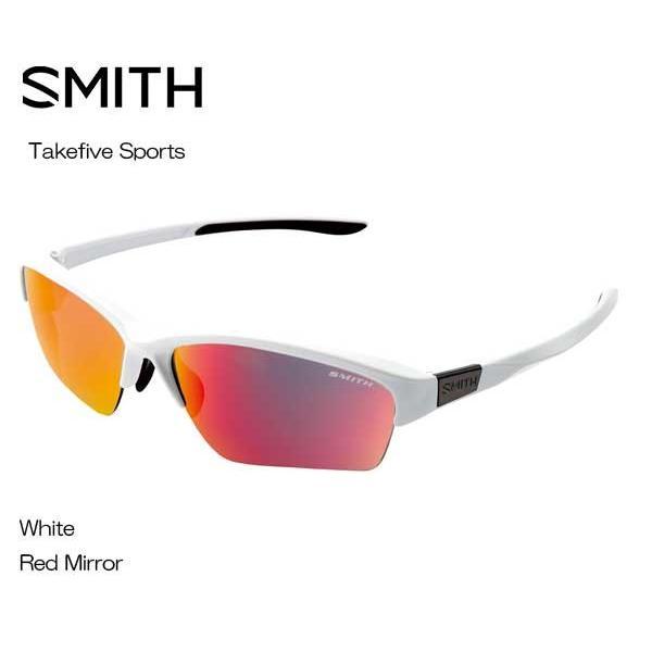 SMITHスミス Takefive Sports 白い 赤 MIRROR 203350444 サングラス