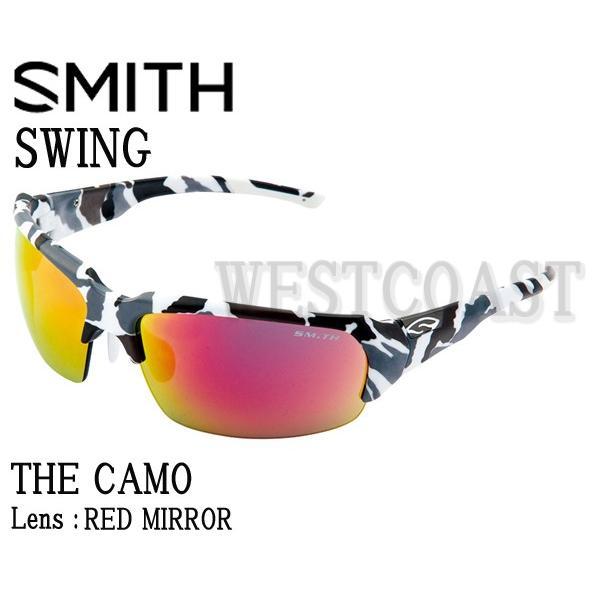 SMITHスミス SWING THE CAMO 赤 MIRROR 206000017サングラス