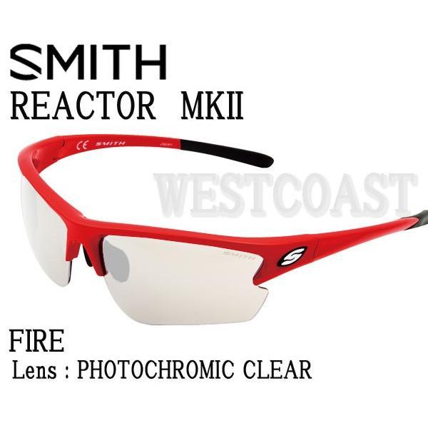 SMITHスミス REACTOR MK2 FIREPhotocromic Clear 209000053 サングラス