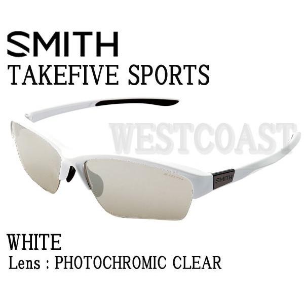 SMITHスミス TAKEFIVE SPORTS 白い Photocromic Clear 203350443 サングラス