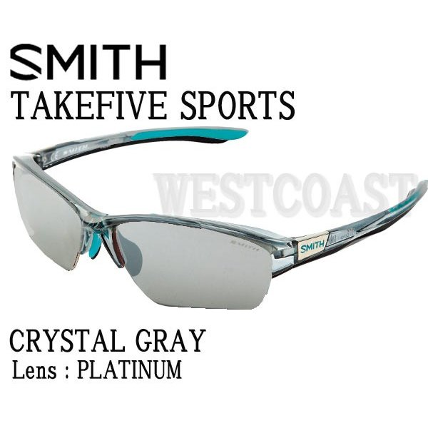 SMITHスミス TAKEFIVE SPORTS CRYSTAL GRAY Platinum 203350451 サングラス