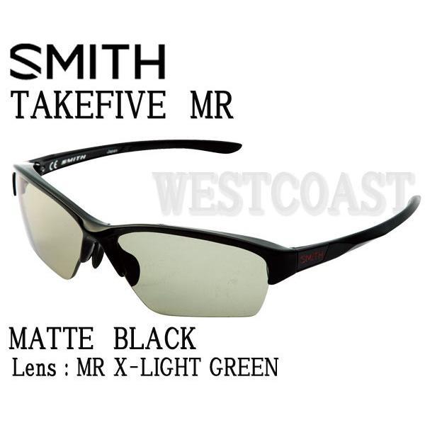 SMITHスミス TAKEFIVE MR MATTE 黒 MR X-Light 緑 203350410 偏光サングラス