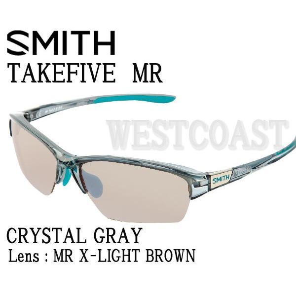SMITHスミス TAKEFIVE MR CRYSTAL GRAY MR X-Light 褐色 203350420 偏光サングラス