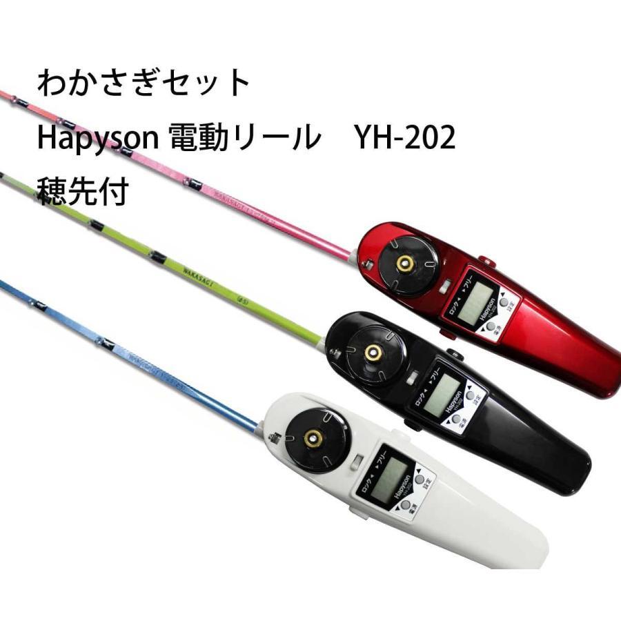 極技ワカサギ替え穂先 25cm HAPYSON 電動リールYH-202 電動セット