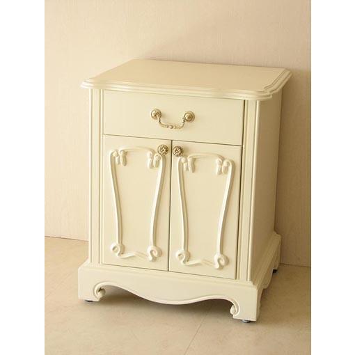 輸入家具 プリンセス家具 ラ・シェル ナイトテーブル ホワイト