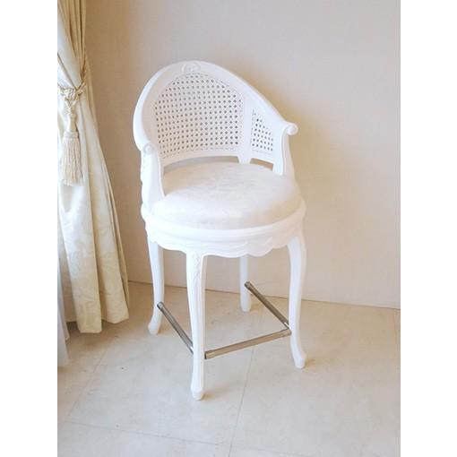 ●新商品●輸入 オーダー家具 フランスチェア SH56cm スーパーホワイト色