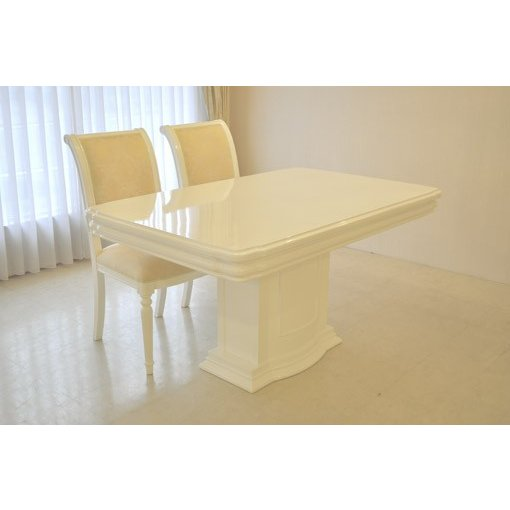 輸入 オーダー家具 プリンセス家具 アフロディーテ ダイニングテーブル W140cm 1本脚 彫刻装飾