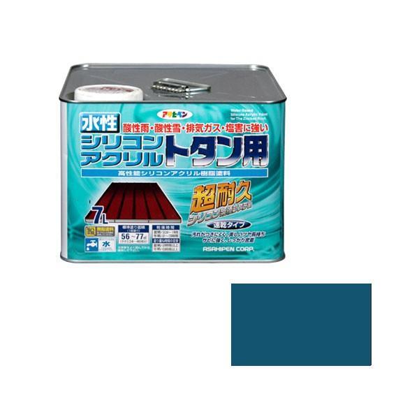水性シリコンアクリルトタン用 7L (オーシャンブルー) [astk]