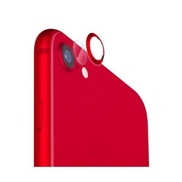 P10倍 お得なキャンペーンを実施中 お買得 iPhoneSE iphone8 iphone7 レッド カメラレンズプロテクターキット 父の日