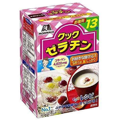 森永製菓 クックゼラチン 13袋入り (5g×13P)×4箱|white-daisy