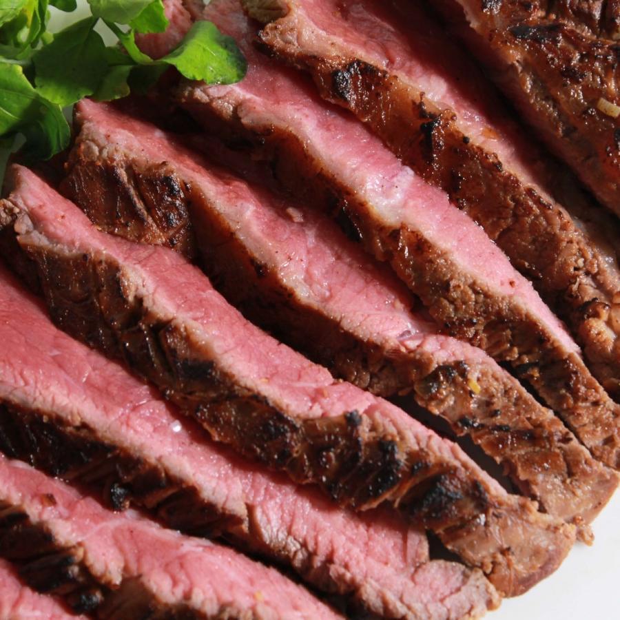 フランクステーキ 牛外バラ (牛肉赤身) 500g BBQなどに オーストラリア産 オージービーフ -SKU119|wholemeat|02