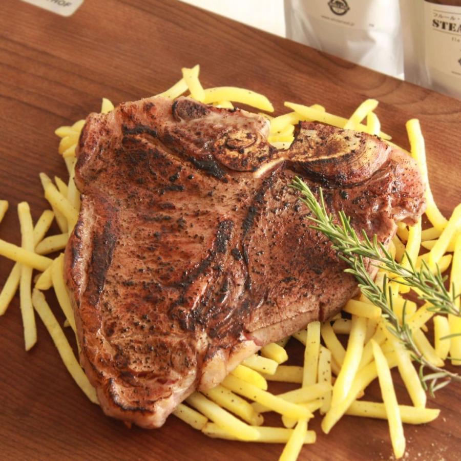 Tボーンステーキ アメリカンビーフ(チョイス)400g-499g 牛肉ステーキ アメリカ産 BBQ 骨付き肉 -SKU111|wholemeat|03