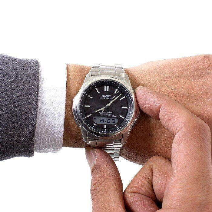 腕時計 メンズ 電波ソーラー カシオ アナログ 薄型 見やすい おしゃれ 男性用 紳士 日付 曜日 軽い 薄い ブランド CASIO ギフト 就職祝い|wide02|05