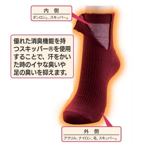 靴下 メンズ 二重 ソックス 冷え取り靴下 冷え性 足 暖かい ひだまり ダブルソックス 3色 セット あったか靴下 紳士用 男性用靴下 消臭|wide02|02
