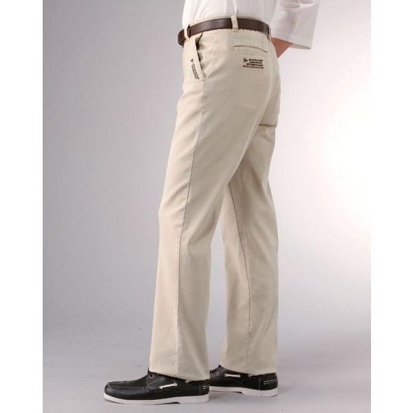チノパン メンズ セット 2本 裾上げ済み 綿パン ゆったり 夏 秋 スラックス 薄手 ズボン ウエスト総ゴム ウエストゴム ダンロップ 男性用 紳士用 78106|wide02|03