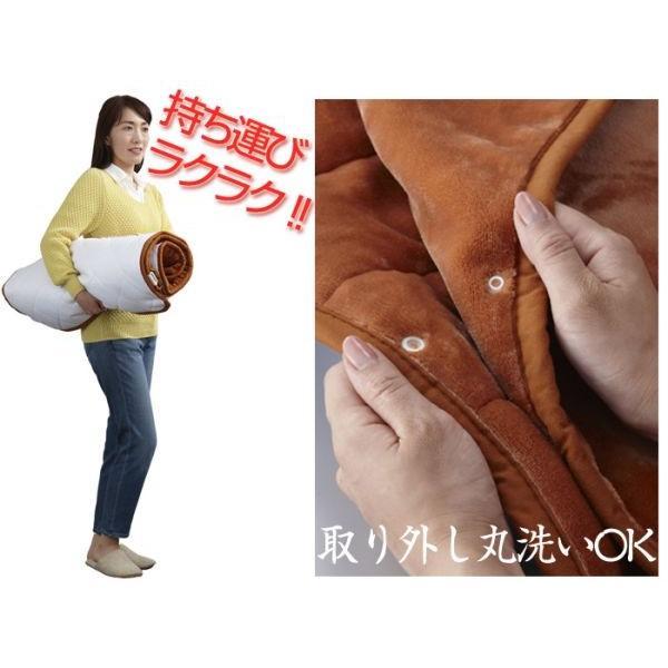 電気毛布 掛毛布 ホットマット 洗える 洗濯可能 丸洗い可 日本製 国産 秋冬 ダニ退治機能 切り忘れタイマー 室温センサー|wide02|04