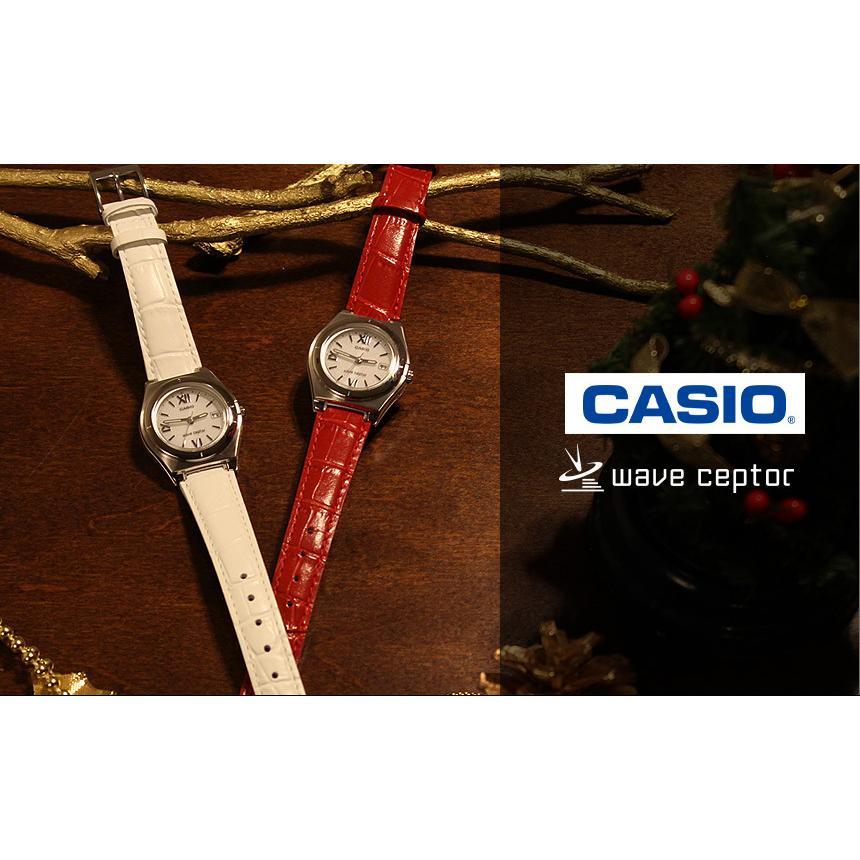 腕時計 レディース 電波ソーラー カシオ 軽い 軽量14.5g 電波時計 革ベルト おしゃれ 革バンド 本革 女性用 婦人用 5気圧防水 社会人 就職祝い ギフト|wide02|03