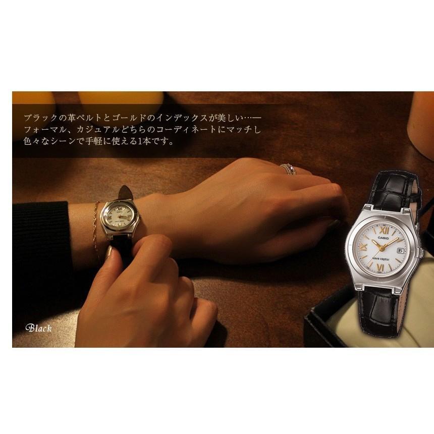 腕時計 レディース 電波ソーラー カシオ 軽い 軽量14.5g 電波時計 革ベルト おしゃれ 革バンド 本革 女性用 婦人用 5気圧防水 社会人 就職祝い ギフト|wide02|06