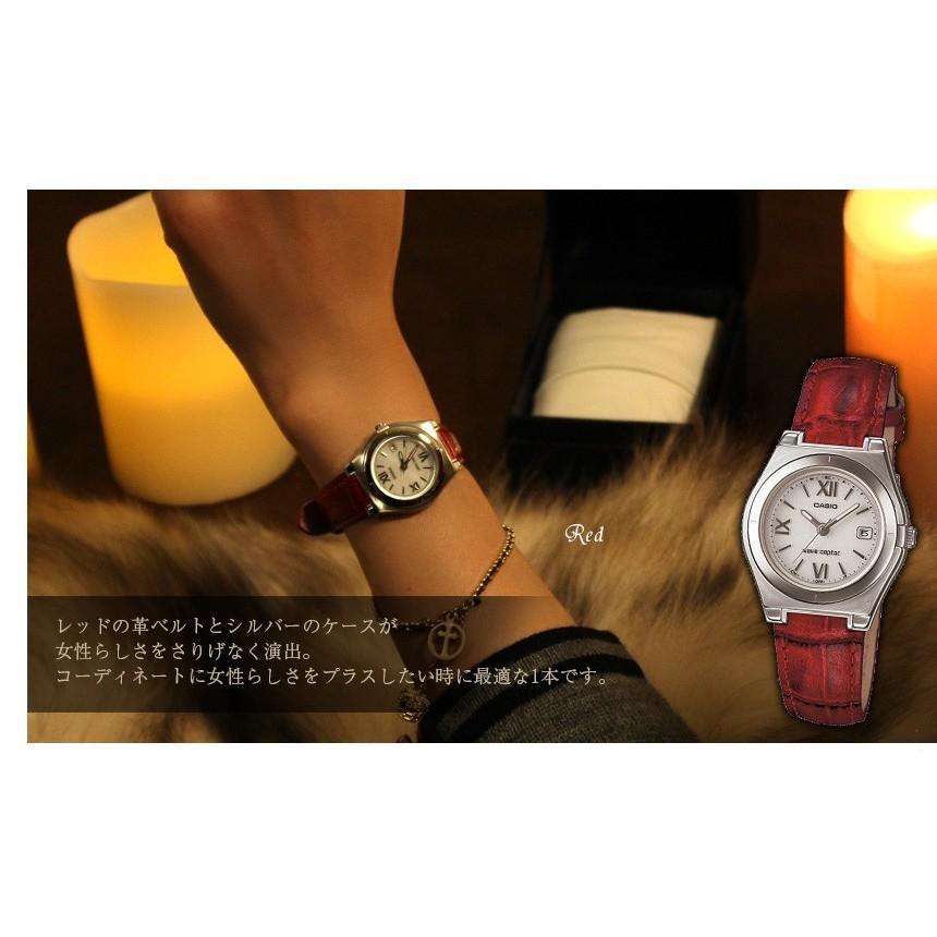 腕時計 レディース 電波ソーラー カシオ 軽い 軽量14.5g 電波時計 革ベルト おしゃれ 革バンド 本革 女性用 婦人用 5気圧防水 社会人 就職祝い ギフト|wide02|08