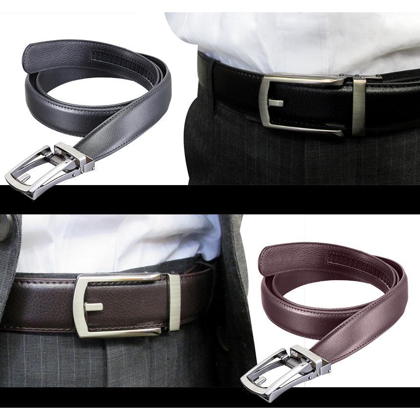 ベルト メンズ 無段階調整 穴なし 長い 大きいサイズ 長さ145cm  穴無し ロングタイプ 男性用 紳士用  ラチェット式 ギフト プレゼントに wide02 06