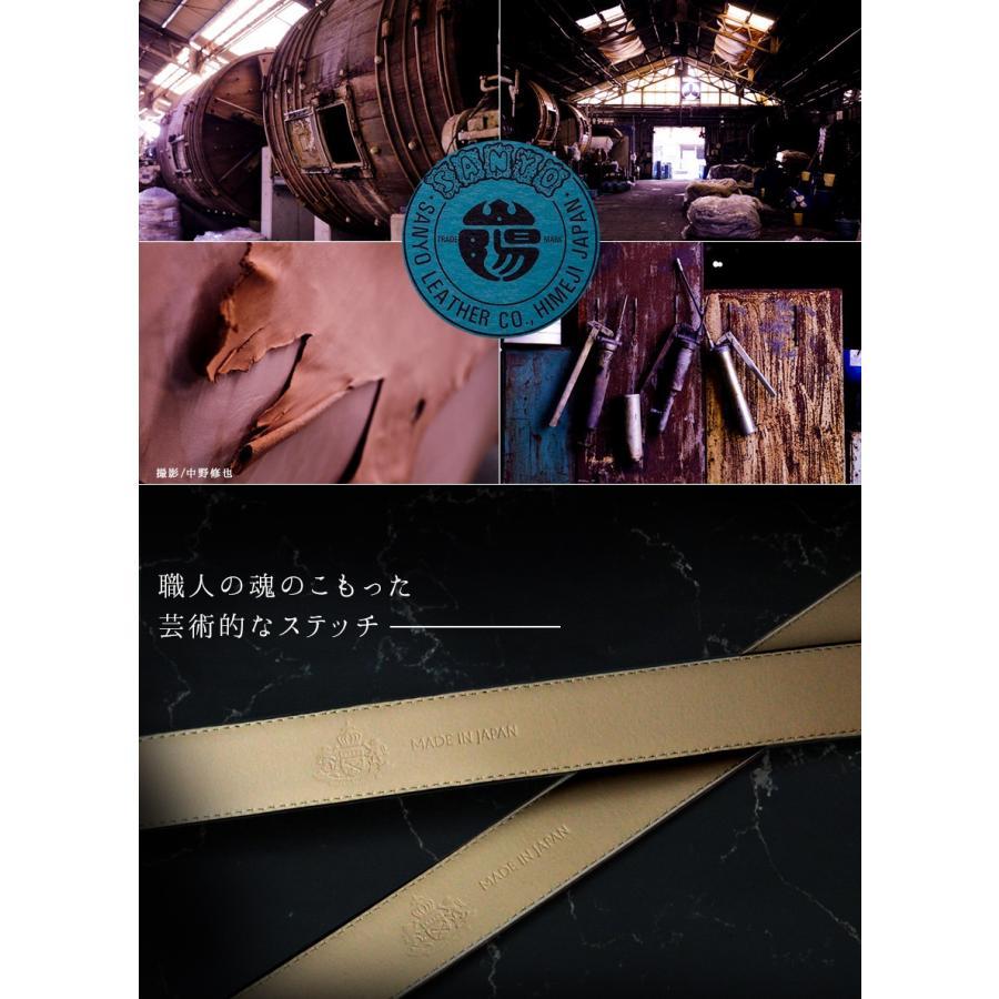 ベルト メンズ 本革 レザー 革 穴なし 無段階調整 日本製 カジュアル 姫路レザー ビジネス スライドベルト おしゃれ ギフト|wide02|04