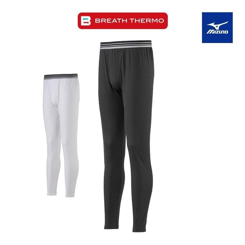 肌着 メンズ ズボン下 ももひき タイツ パッチ 秋 冬 ロングタイツ ミズノ 保温下着 ゴルフ インナー ブレスサーモエブリ ボトムス mizuno  発熱 アンダーウェア|wide02