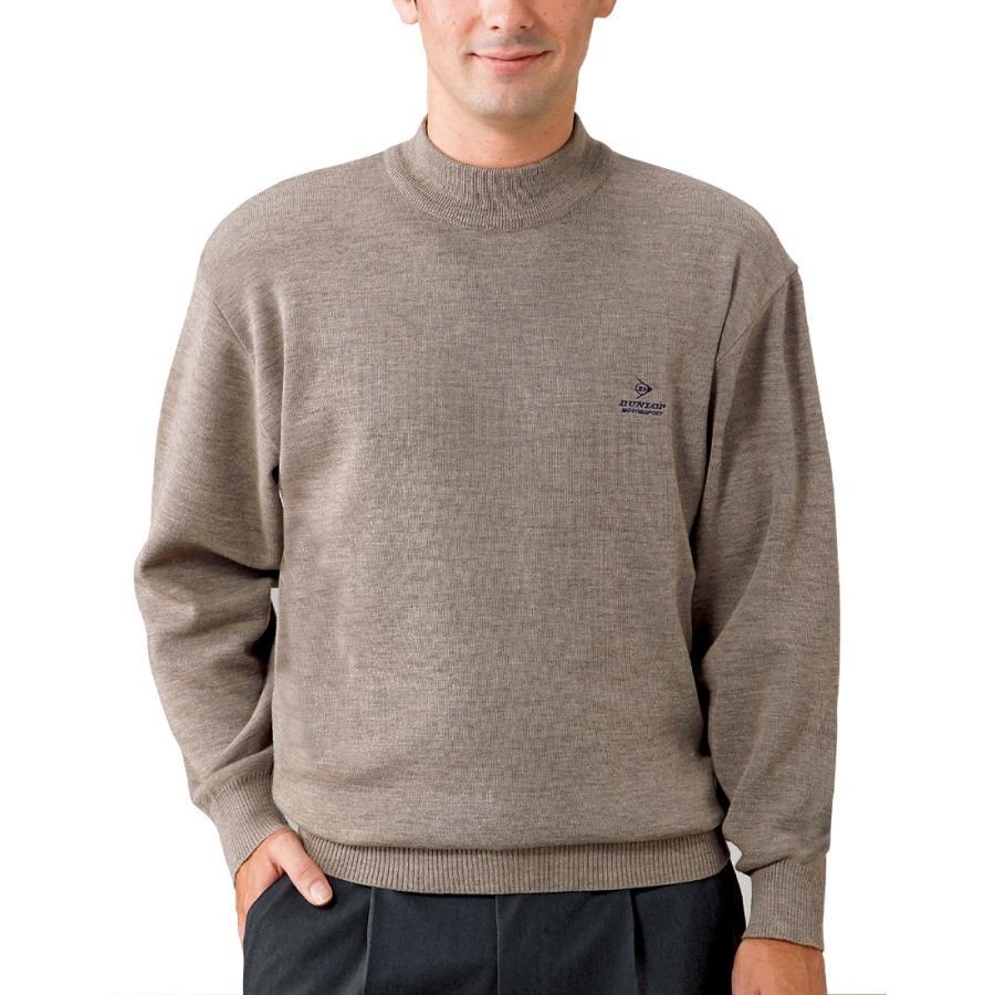 セーター メンズ 男性 紳士 ハイネック とっくり ウール混合 日本製 50代 60代 70代 80代 ハイネックセーター 黒 赤 DMS 夫 プレゼント|wide02|03