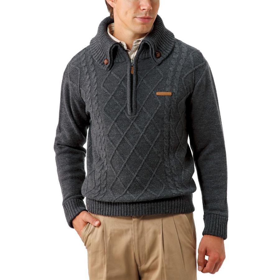セーター メンズ 男性 紳士 ダンロップ DUNLOP DMS セット 2枚 2色 ウール 混合 ケーブル柄 アーガイル ジップセーター ジップアップセーター同サイズ2色組 編み|wide02|03