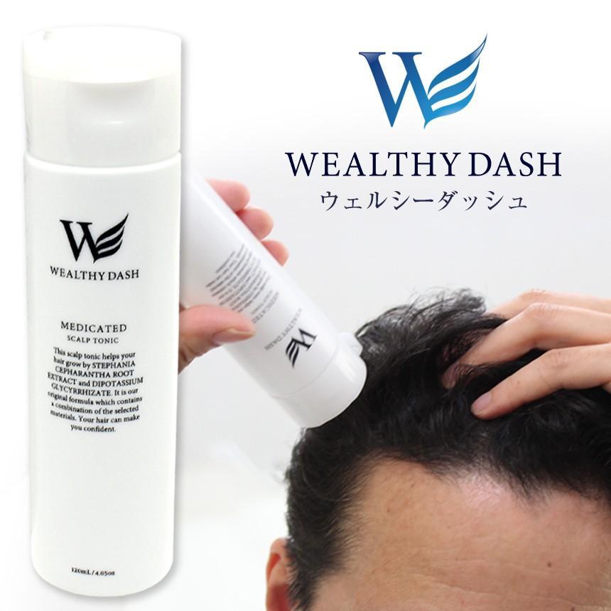 育毛剤 増毛 液体 メンズ レディース 男性用 女性用 医薬部外品 お試し WEALTHY DASH ウェルシーダッシュ 120ml|wide02