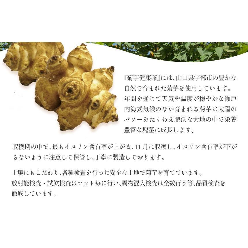 菊芋茶 健康茶 キクイモ茶 国産 日本製 セット 1袋 30g 15包 15パック ティーバッグ 菊芋100% 山口県産 菊芋健康茶 焙煎 焙煎茶 イヌリン ノンカフェイン|wide02|13