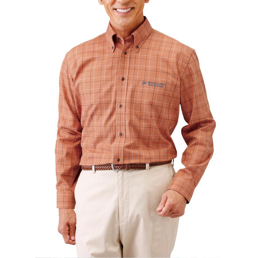 ダンロップモータースポーツ上品チェック柄カジュアルシャツ同サイズ3色組|wide02|03