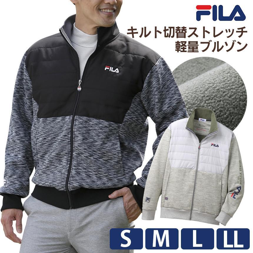 ジャケット メンズ 男性 紳士 50代 60代 70代 FILA フィラ ブルゾン 秋冬 2020 ゴルフ テニスウェア  アウター フリース  暖かい あったか ファッション|wide02