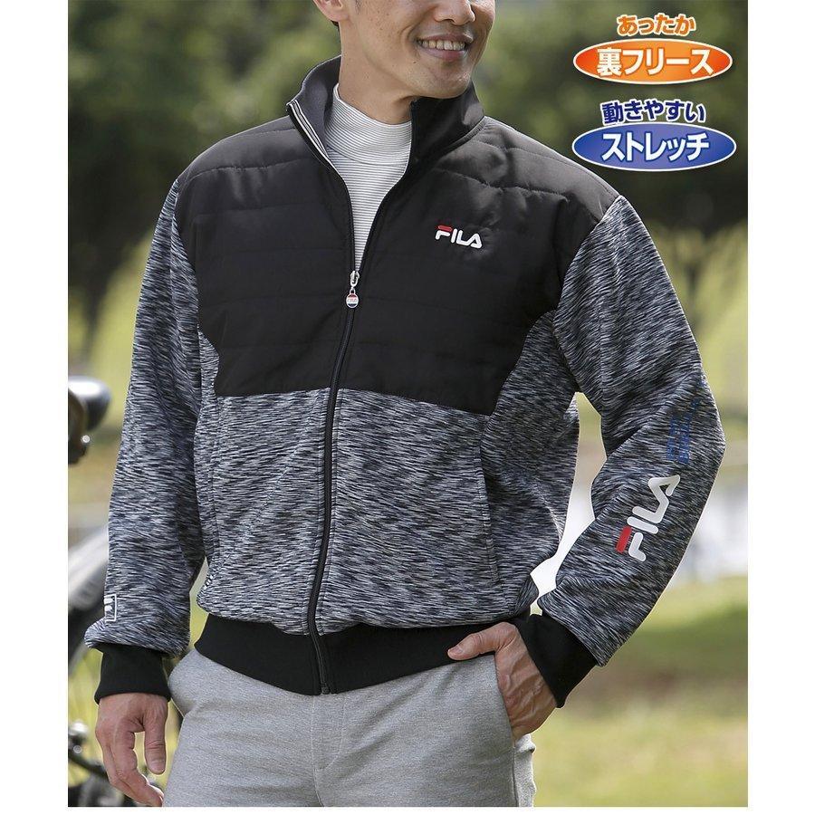 ジャケット メンズ 男性 紳士 50代 60代 70代 FILA フィラ ブルゾン 秋冬 2020 ゴルフ テニスウェア  アウター フリース  暖かい あったか ファッション|wide02|03