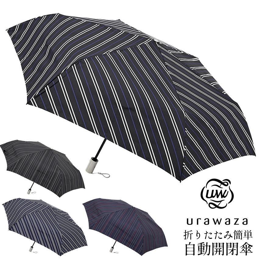 urawaza折りたたみ簡単自動開閉メンズ傘