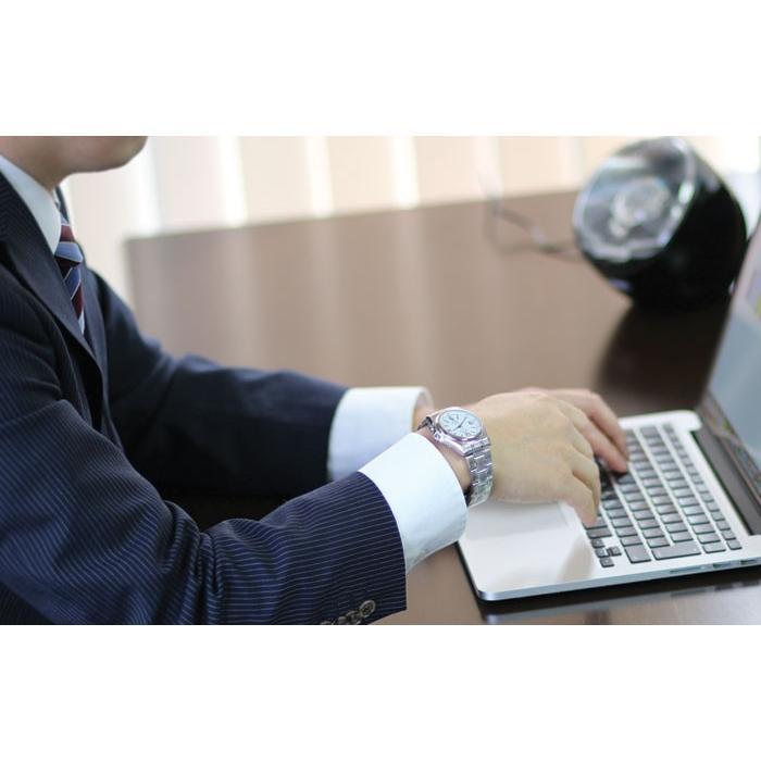 腕時計 メンズ 電波ソーラー シチズン 薄型 アナログ 見やすい 男性用 紳士用 軽量 メタルバンド 日付 電波時計 電波ソーラー腕時計 62419|wide|14