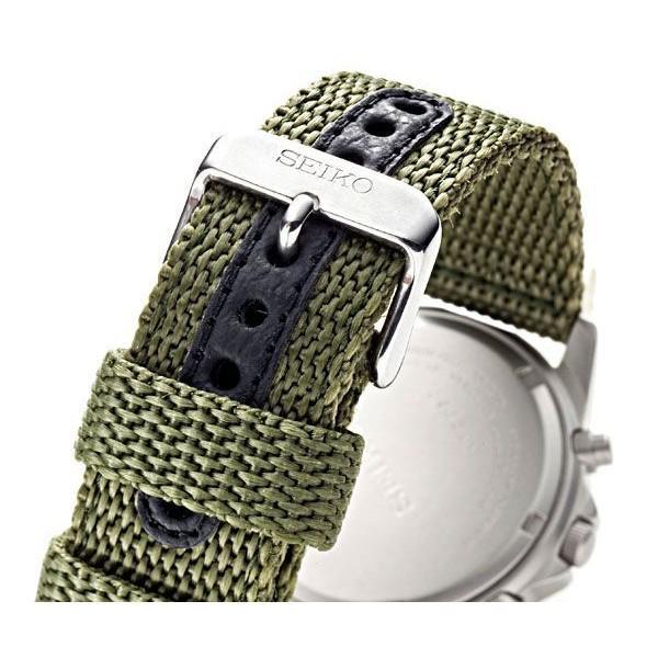 腕時計 セイコー クロノグラフ 逆輸入 メッシュバンド ナイロンバンド 10気圧防水 ミリタリーウォッチ SEIKO アナログ 腕時計 海外モデル アウトドア 新品|wide|05