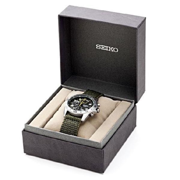 腕時計 セイコー クロノグラフ 逆輸入 メッシュバンド ナイロンバンド 10気圧防水 ミリタリーウォッチ SEIKO アナログ 腕時計 海外モデル アウトドア 新品|wide|06