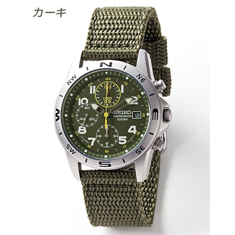 腕時計 セイコー クロノグラフ 逆輸入 メッシュバンド ナイロンバンド 10気圧防水 ミリタリーウォッチ SEIKO アナログ 腕時計 海外モデル アウトドア 新品|wide|07