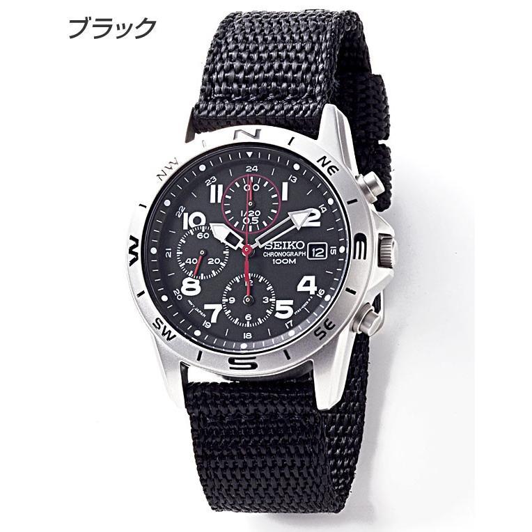 腕時計 セイコー クロノグラフ 逆輸入 メッシュバンド ナイロンバンド 10気圧防水 ミリタリーウォッチ SEIKO アナログ 腕時計 海外モデル アウトドア 新品|wide|09