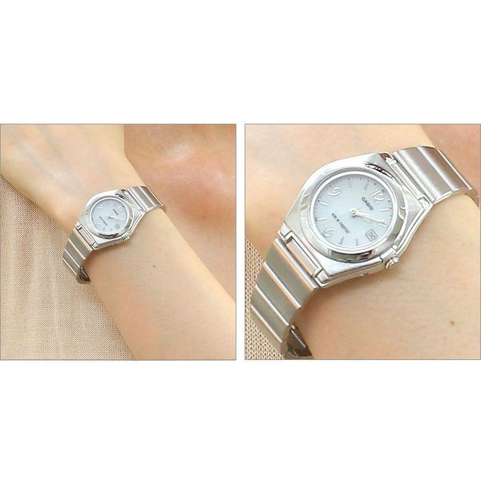 腕時計 レディース 電波ソーラー 薄型 アナログ 見やすい おしゃれ 女性用 婦人用 カシオ腕時計 薄い 軽い 細い 電波時計 ブランド CASIO 社会人 2021 夏 wide 03