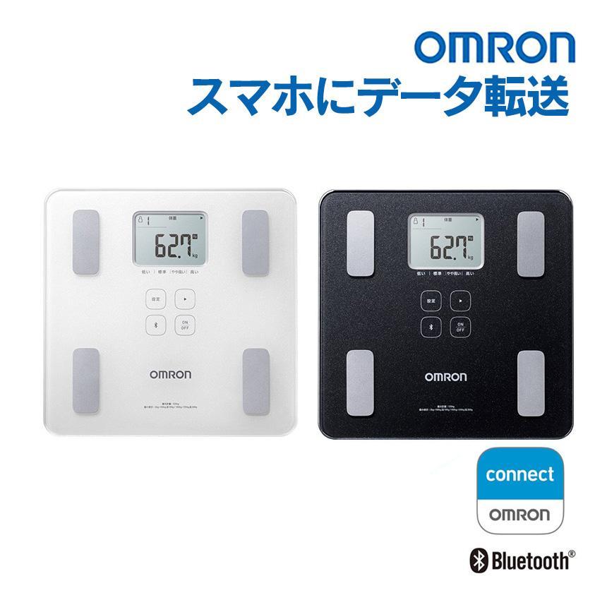 体重計 体重体組成計 スマホ連動 正確 体脂肪計付き体重計 オムロン omron iPhone ios アプリ ヘルスケア 連携 データ転送 スマホ カラダスキャン|wide